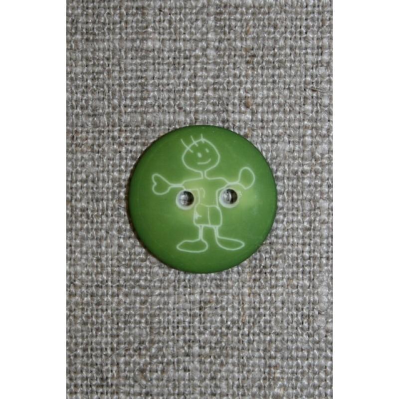 Knap m/dreng, grøn-31