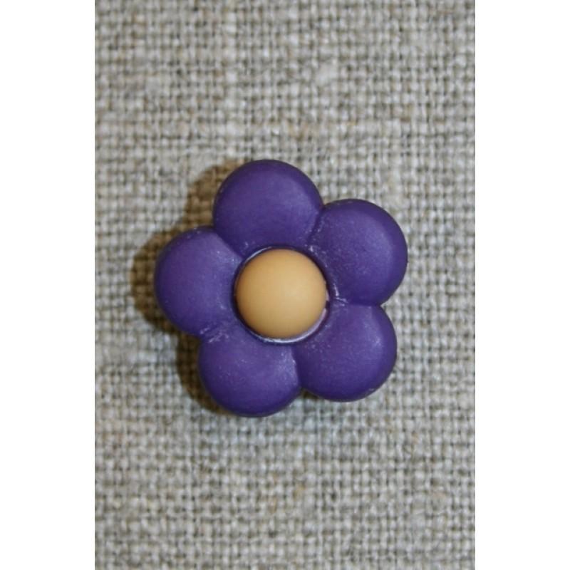 2-farvet blomsterknap mørkelilla/lysebrun-31