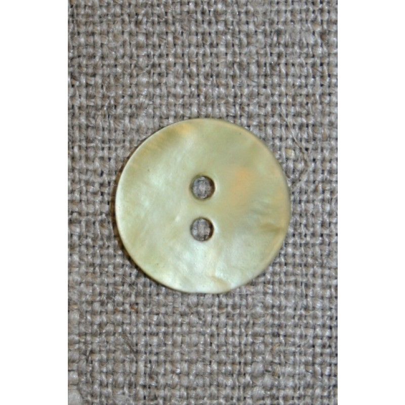 Perlemorsknap lys lime/gul, 15 mm.-31