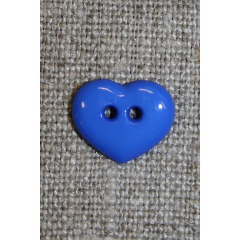 Hjerteknap 13 mm. koboltblå-31
