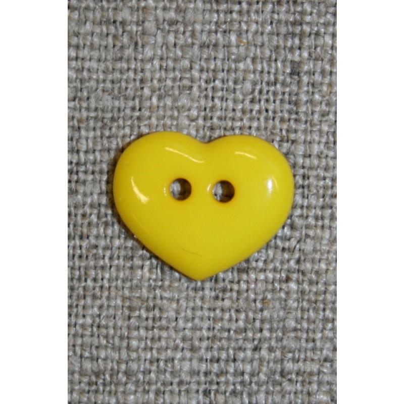Hjerteknap 15 mm. gul-33