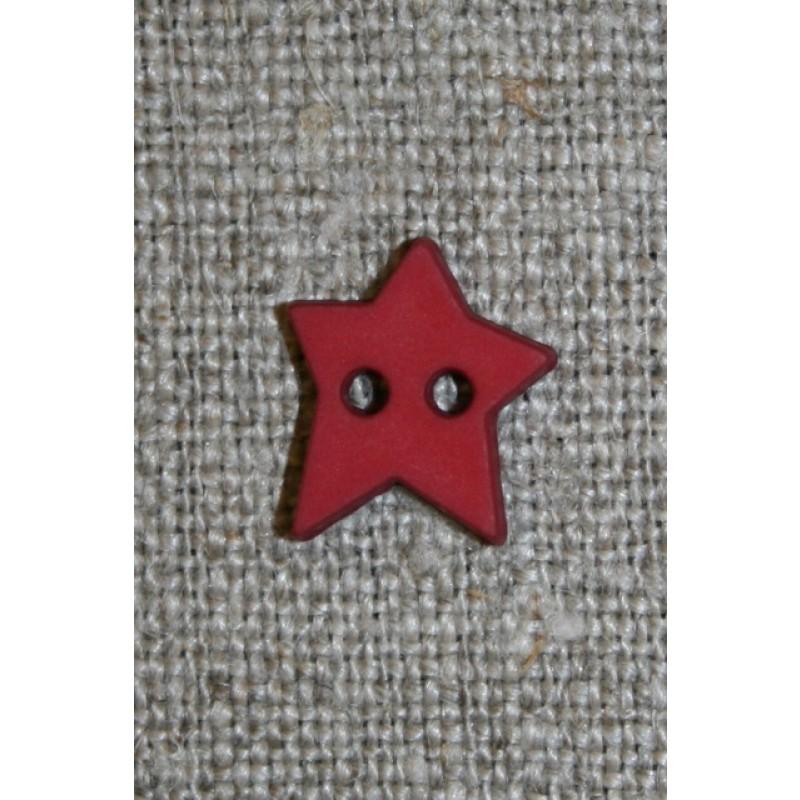 Knap stjerne, mørkerød-33