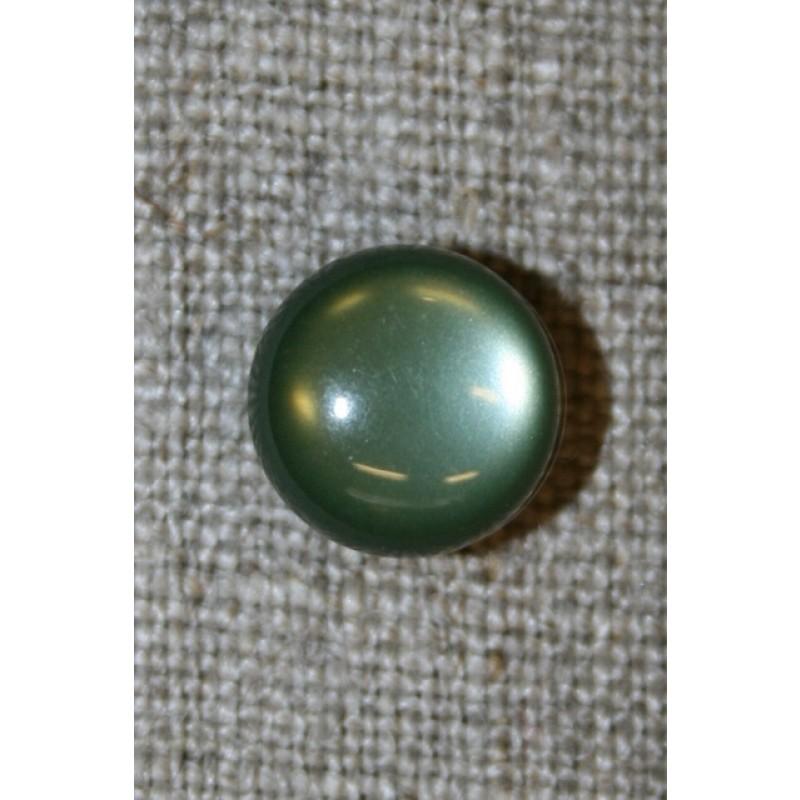 Rund knap, 11 mm. oliven