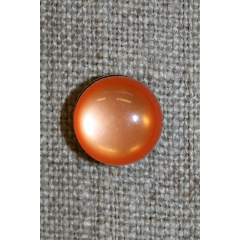 Rund knap, 11 mm. orange