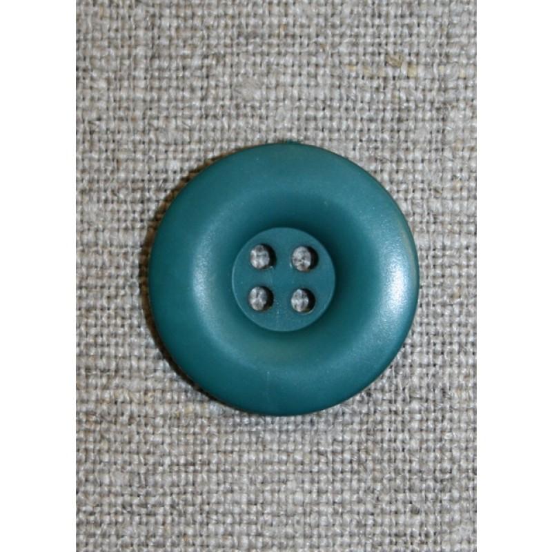 Petrol-grøn 4-huls knap
