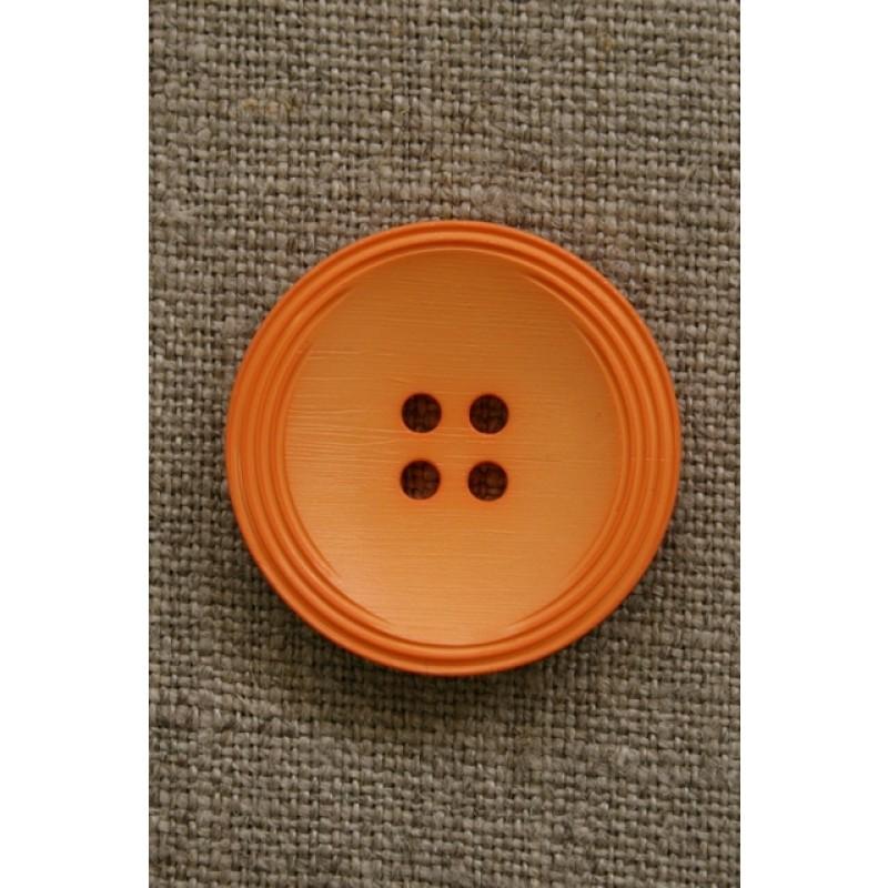 Orange 4-huls knap, 28 mm.-31