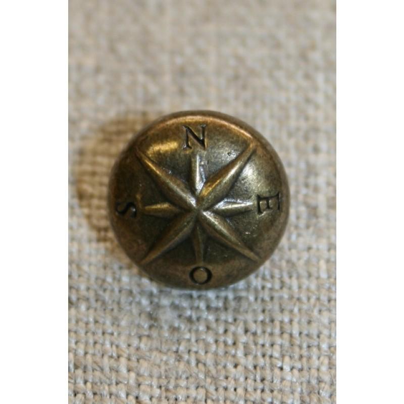 Gl.guld knap m/stjerne, 12 mm.-31