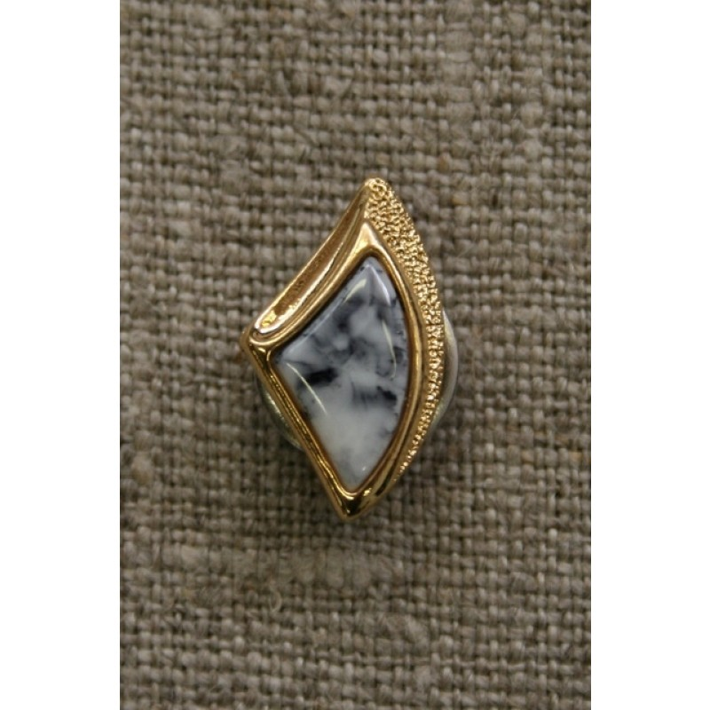 Knap guld/marmor-look, 18 mm.