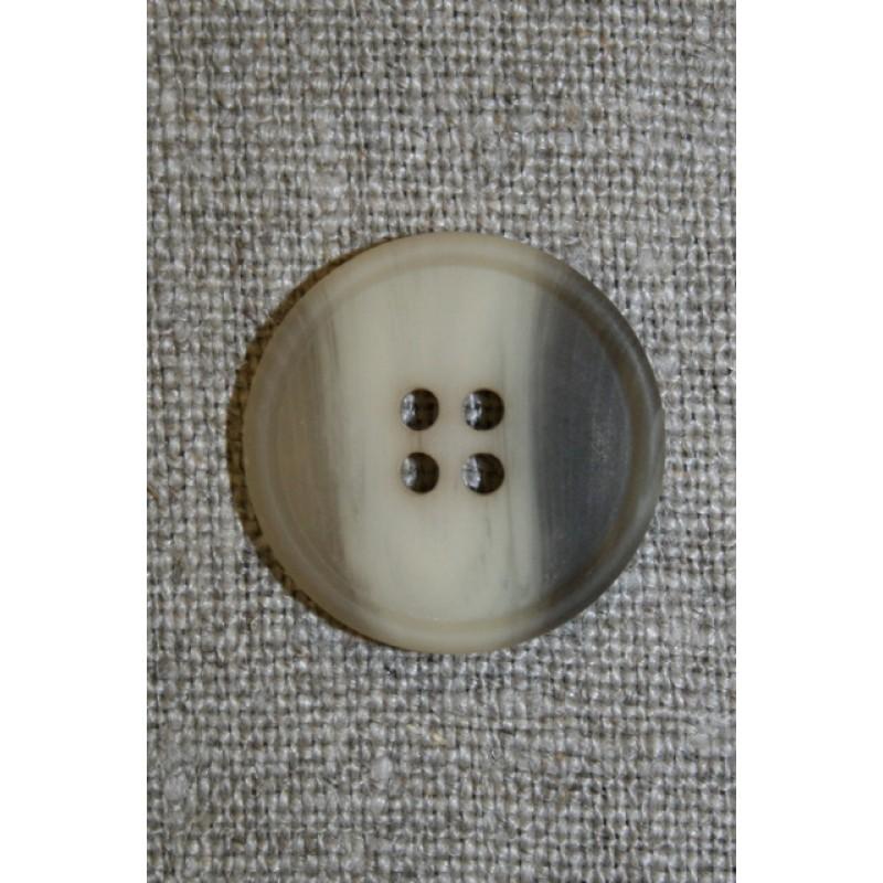 4-huls knap brun/kit, 20 mm.-00