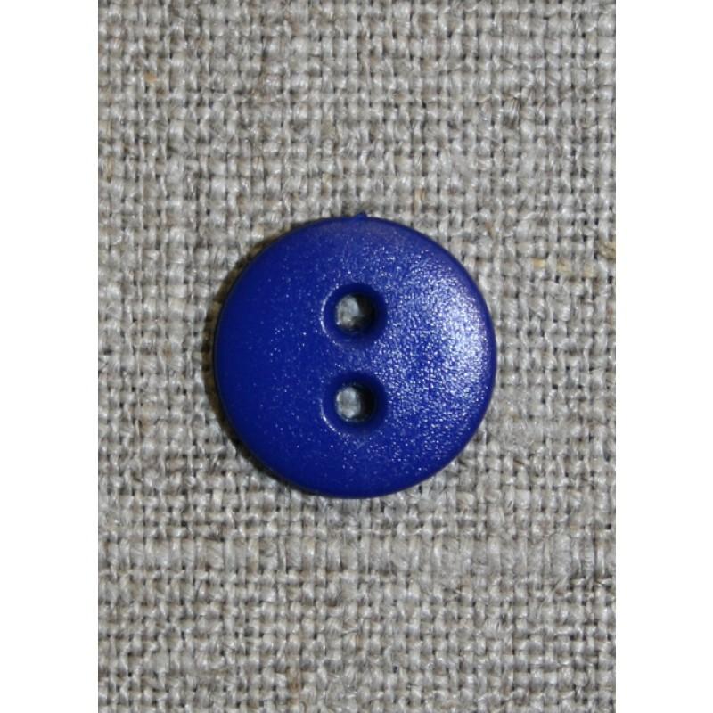 Koboltblå 2-huls knap, 13 mm.-31