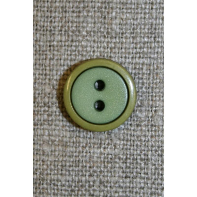 2-farvet knap lime/løvgrøn, 12 mm.-31