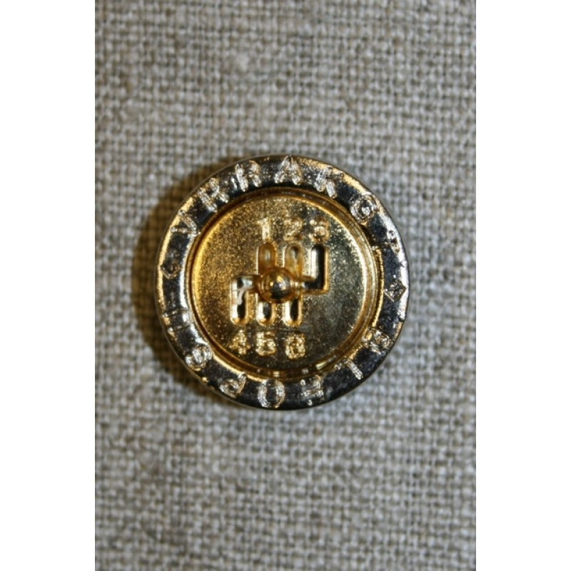 Knap m/tekst guld m/sølv-kant-31