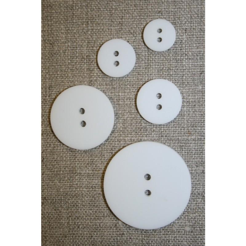 Hvid 2-huls knap i 15 mm.-33