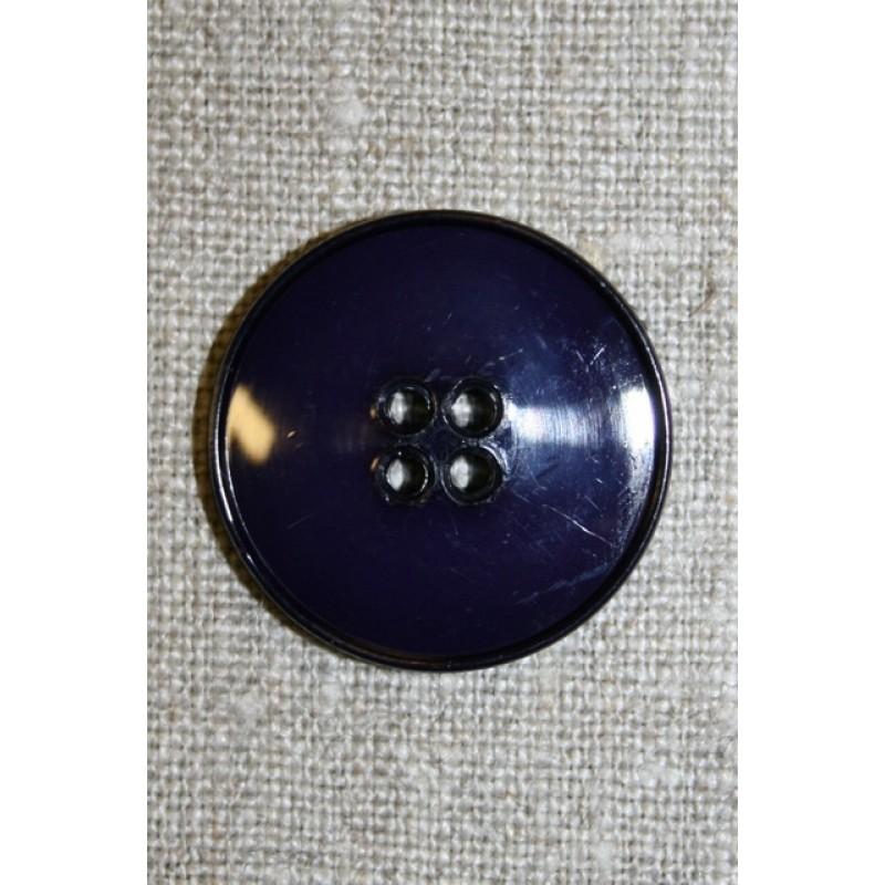 Blå-lilla 4-huls knap,