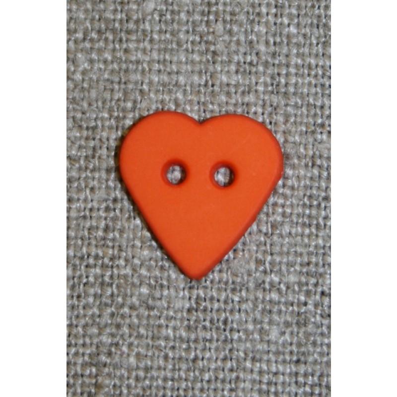 Hjerteknap orange, 15 mm.-33