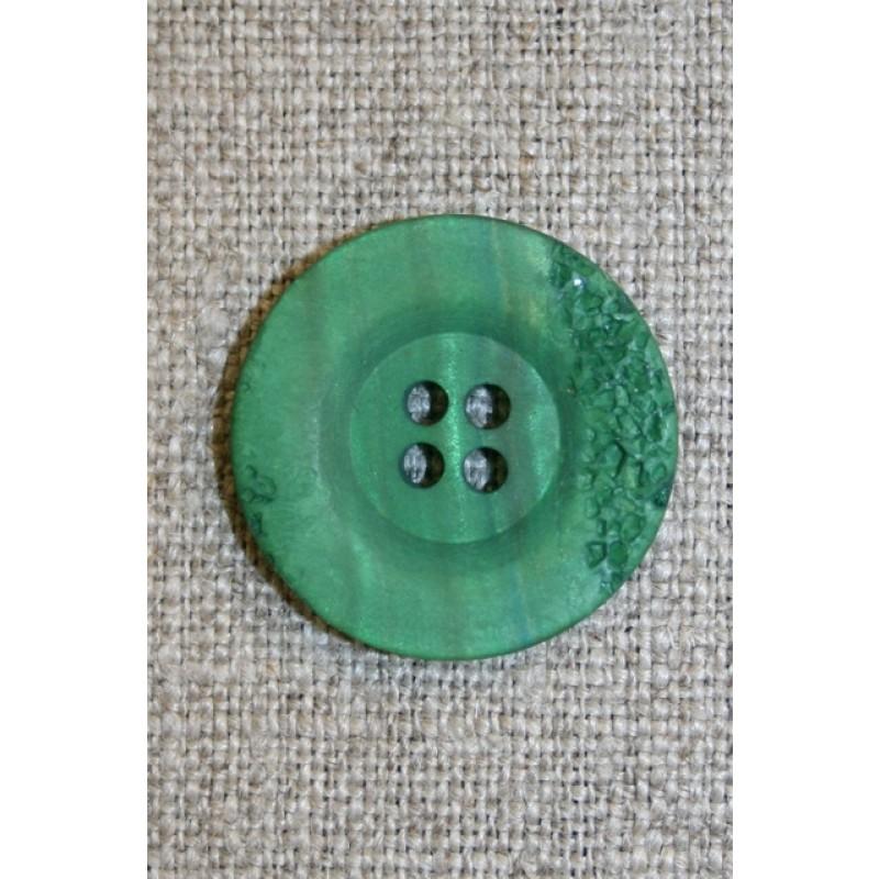 4-huls knap krakeleret græsgrøn, 23 mm.-31