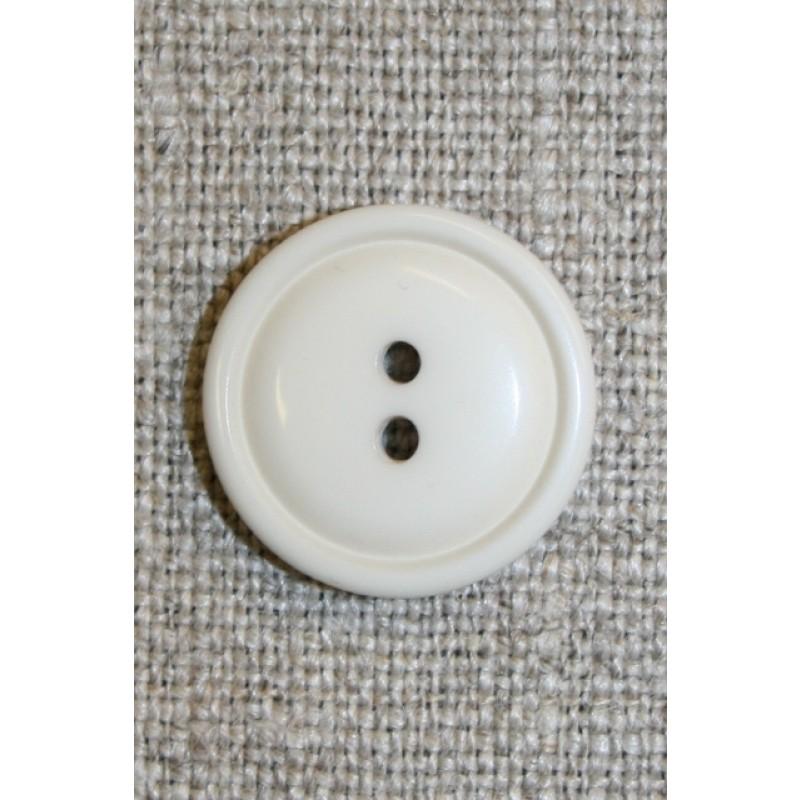 Kit/off-white 2-huls knap,18 mm.-31