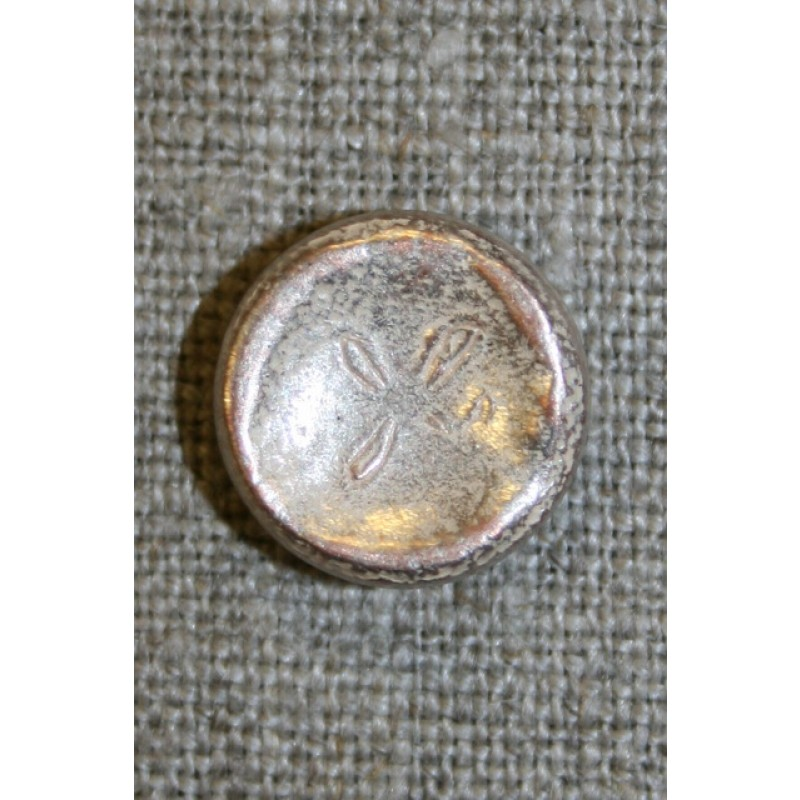 Metal-knap antik look mat guld, 15 mm.-31