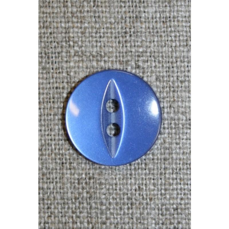 Blank 2-huls knap m/oval midte, lavendel-blå-31