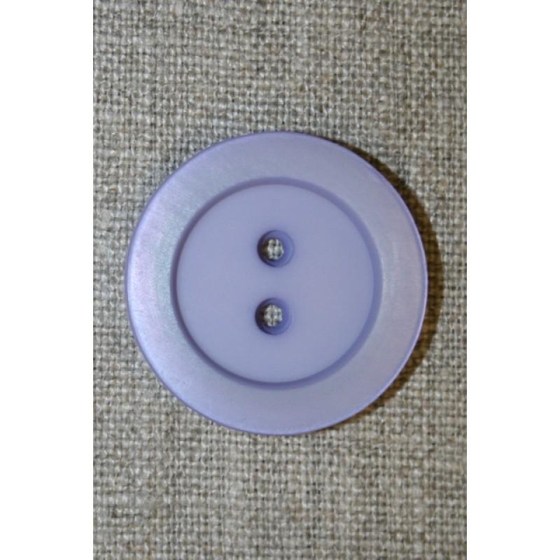 Lyselilla 2-huls knap, 30 mm.