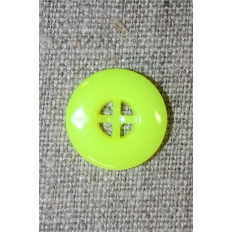 Neon knap gul, 17 mm.