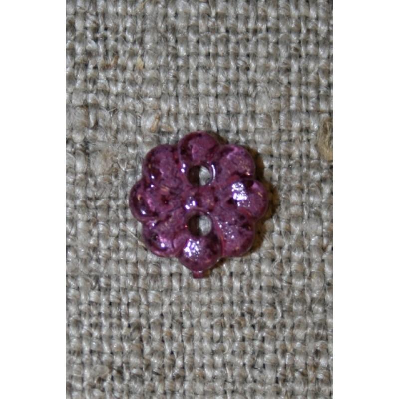 Lille lilla blomster-knap, 9 mm.-31