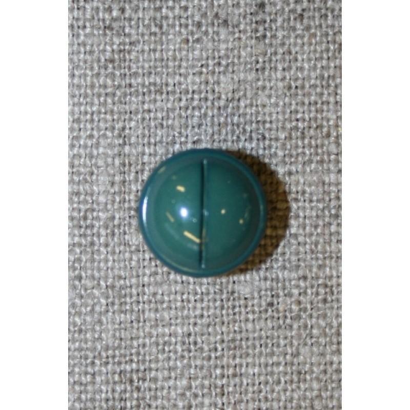 Rund knap m/rille, flaskegrøn 12 mm.-31