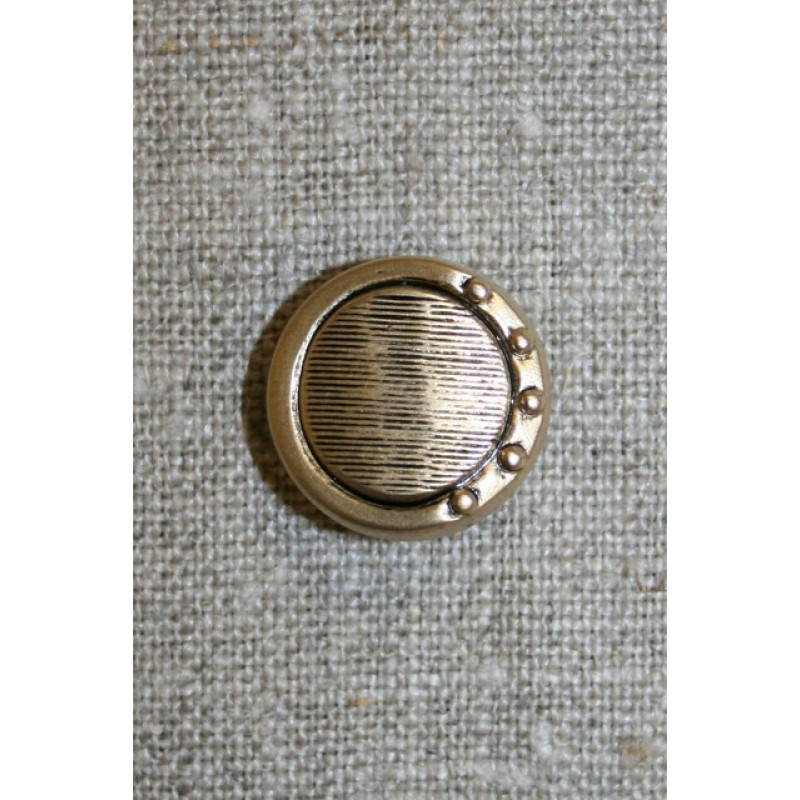 Mat guld-knap, 18 mm.