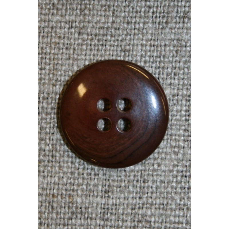 4-huls knap rød-brun-meleret, 18 mm.-31