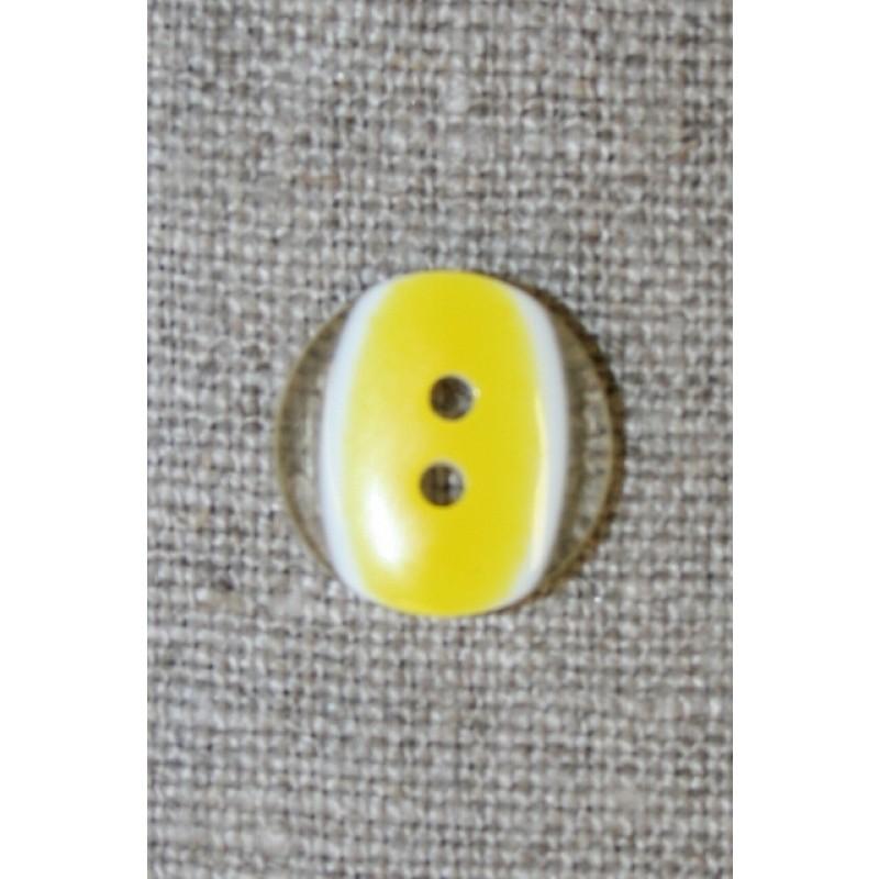 2-huls knap klar/gul, 15 mm.-31