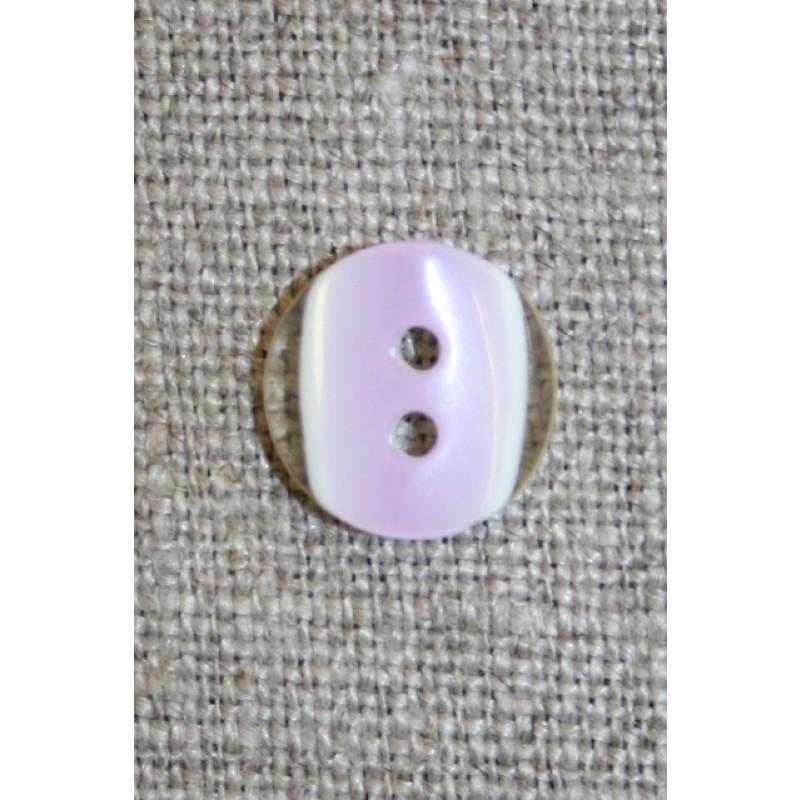 2-huls knap klar/lyselilla, 11 mm.-31