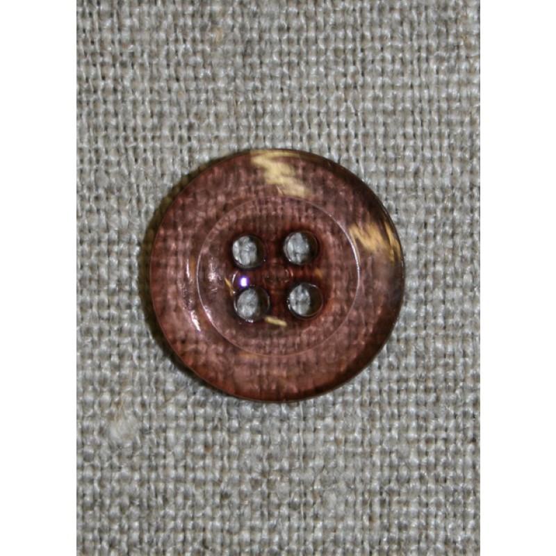 Klar brun-rosa 4-huls knap, 18 mm.-31