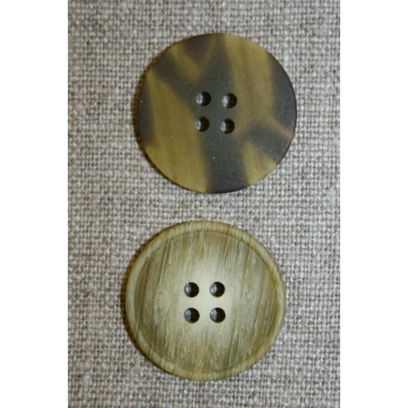 Oliven meleret 4-huls knap