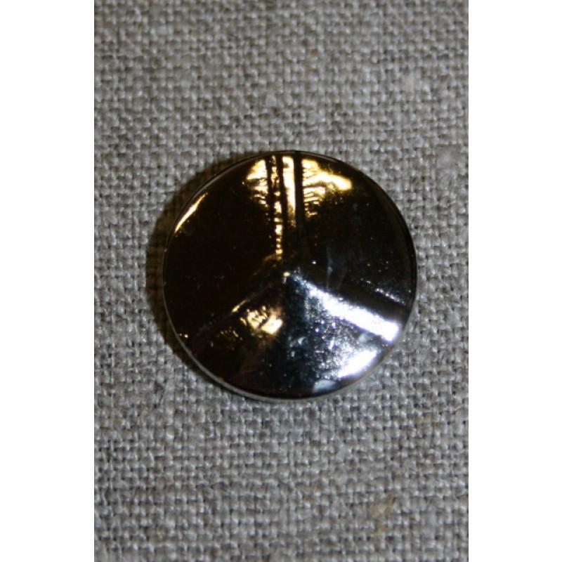 Sølvknap 3-delt, 20 mm.-35