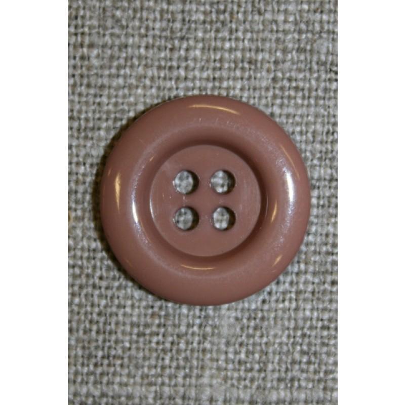 4-huls knap pudder-beige, 20 mm.