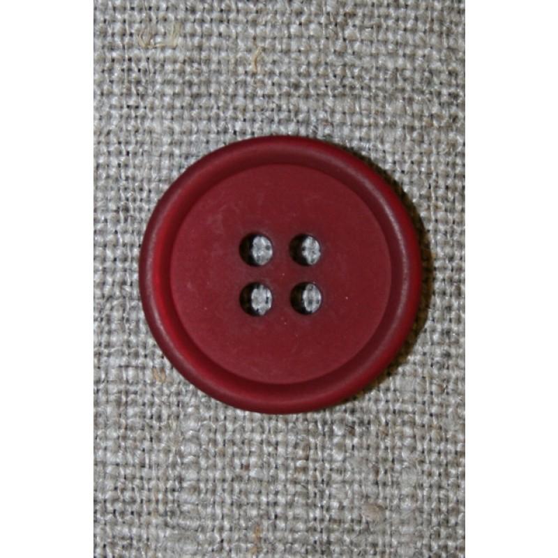 4-huls knap bordeaux, 20 mm.