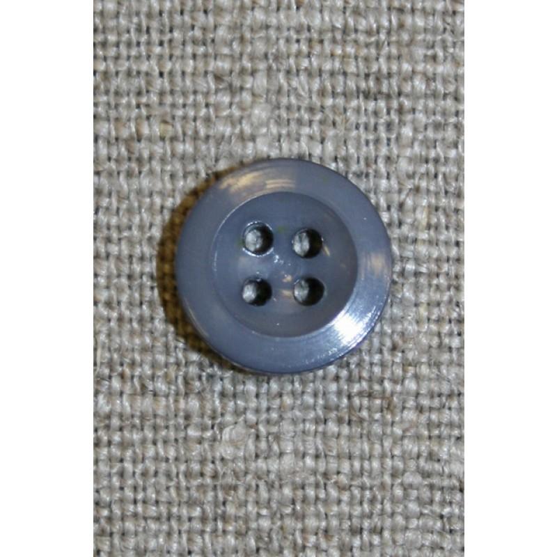 4-huls knap grå, 12 mm.