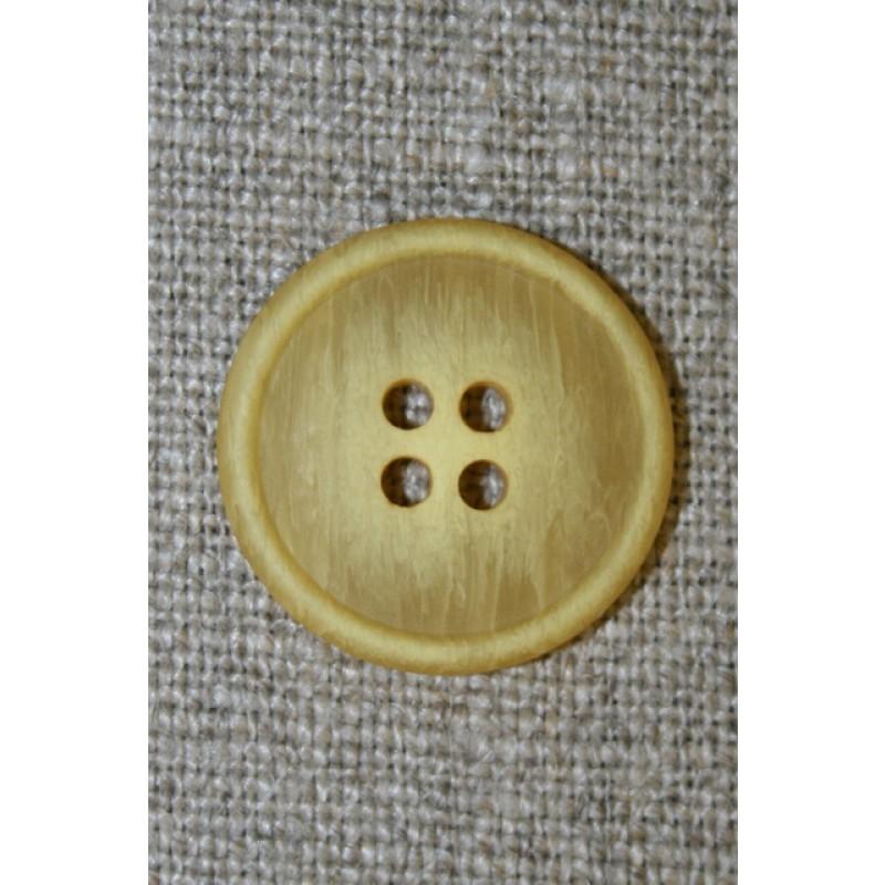 Gul meleret 4-huls knap-35