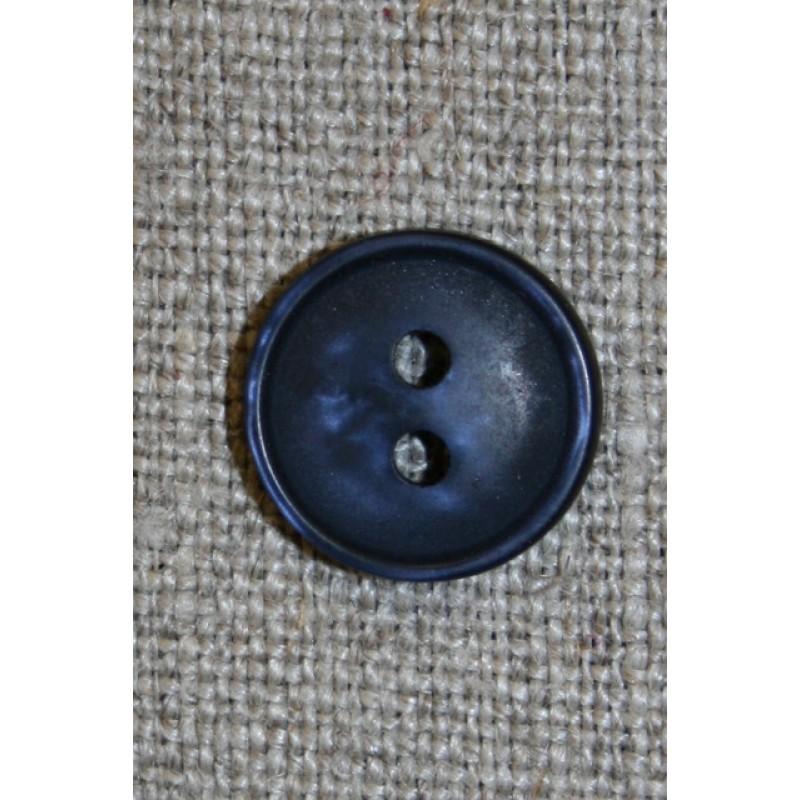 2-huls knap i mørkeblå, 13 mm.-35