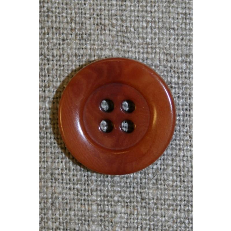 4-huls knap brændt orange-brun-35