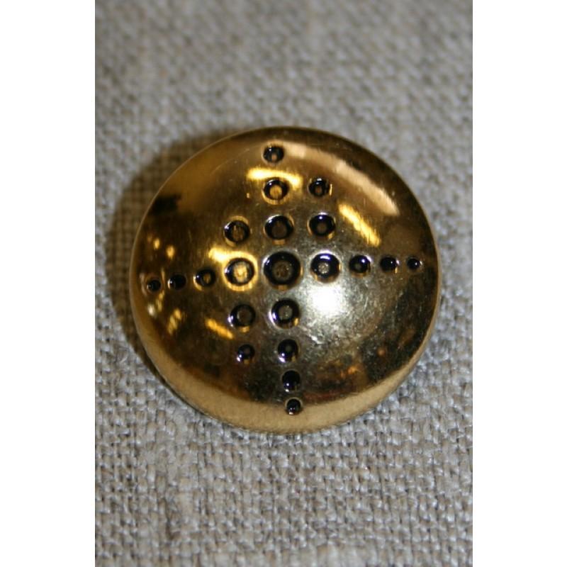 Guld knap m/prikker-35