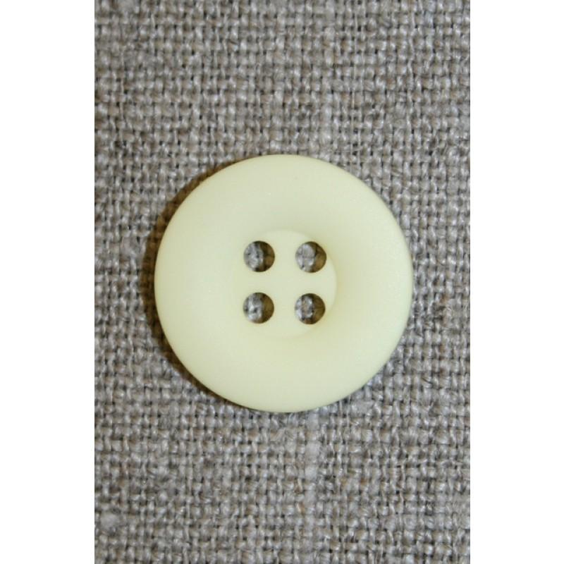 Lysegul 4-huls knap, 18 mm.-35