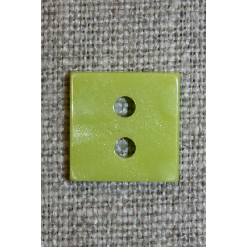 Firkantet blank knap, lime 15 mm.-35
