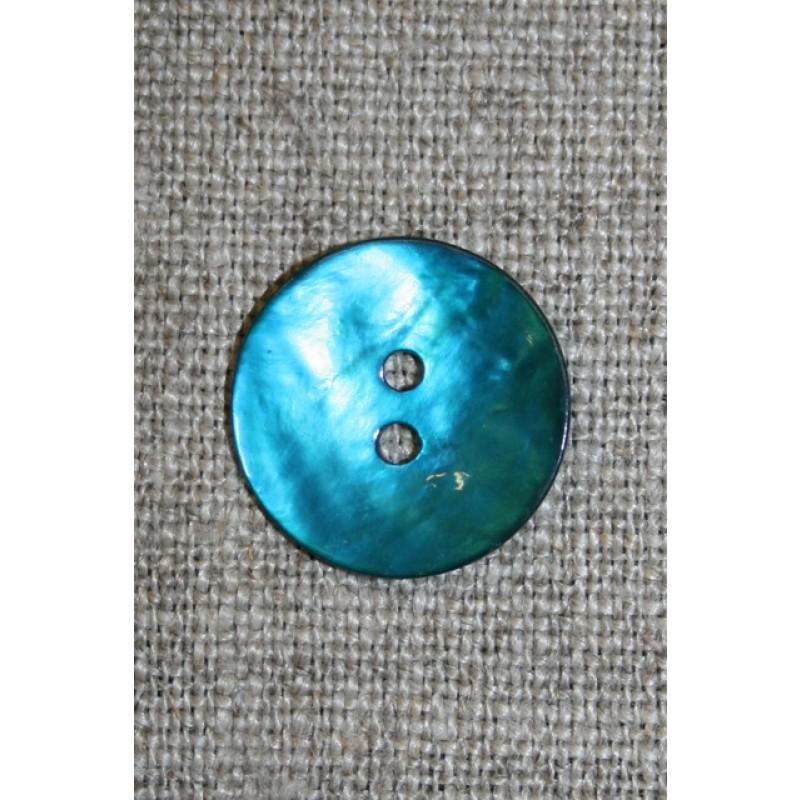 Perlemors-knap turkis 18 mm.-35