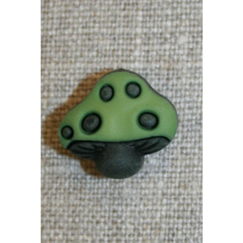 Knap m/paddehat, grøn