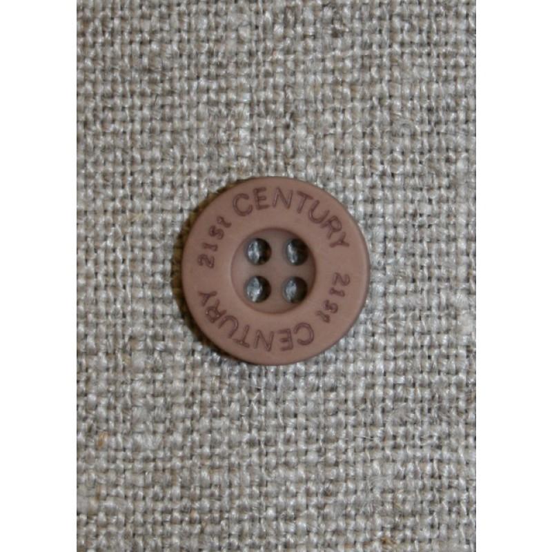 Knap pudder-brun 21st century, 13 mm.-31