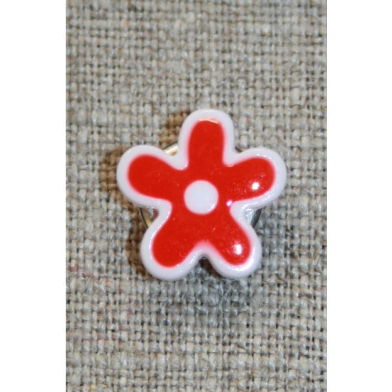 Blomsterknap rød/hvid, 15 mm.-35