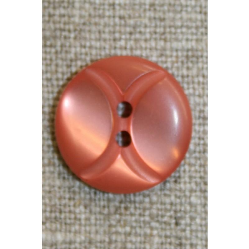 Knap m/buer 18 mm. melon