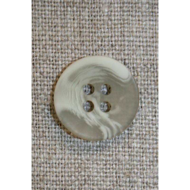 Buet knap grå-grøn/beige 18 mm.-33