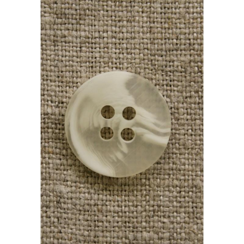 Buet knap hvid/klar 18 mm.-31